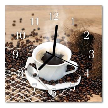 Zegar ścienny kwadrat Filiżanka kawy