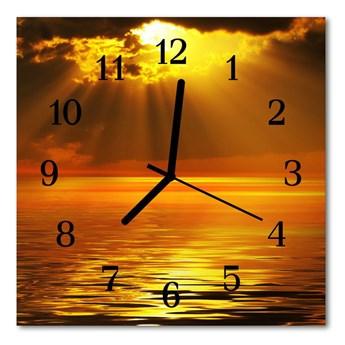 Zegar szklany kwadratowy Zachód słońca