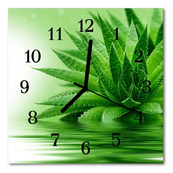 Zegar szklany kwadratowy Aloes