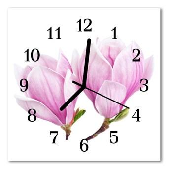 Zegar szklany kwadratowy Magnolia