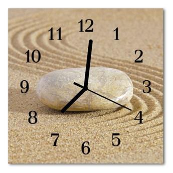Zegar szklany kwadratowy Kamienny piasek
