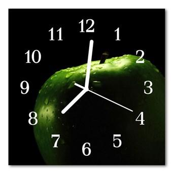 Zegar szklany kwadratowy Jabłko
