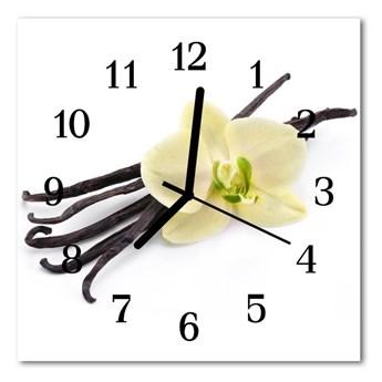 Zegar szklany kwadratowy Wanilia