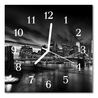 Zegar szklany kwadratowy Miasto