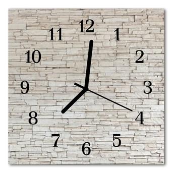 Zegar szklany kwadratowy Klinkier
