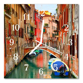 Zegar szklany kwadratowy Wenecja