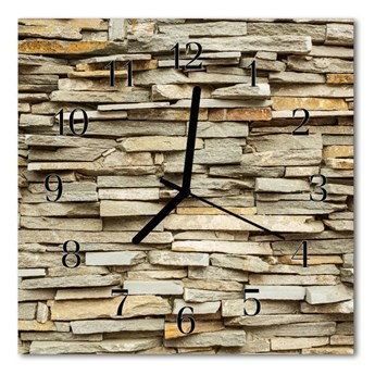 Zegar szklany kwadratowy Kamienie