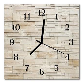 Zegar szklany kwadratowy Kamienny mur