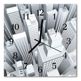 Zegar szklany kwadratowy Zabudowania