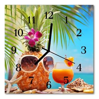 Zegar szklany kwadratowy Święto