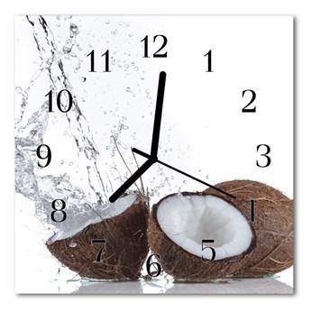 Zegar szklany kwadratowy Kokosy