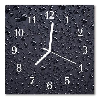 Zegar szklany kwadratowy Krople
