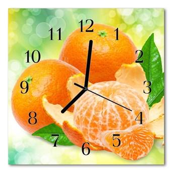 Zegar szklany kwadratowy Pomarańcze