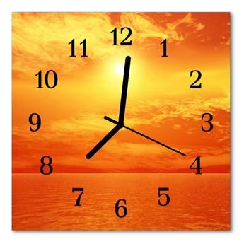 Zegar szklany kwadratowy Słońce