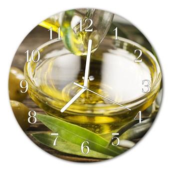 Zegar ścienny okrągły Oliwa z oliwek