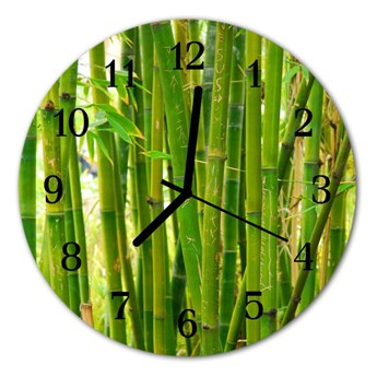 Zegar ścienny okrągły Bambusowa roślina