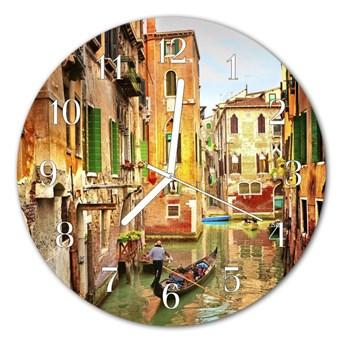 Zegar ścienny okrągły Wenecja łódź
