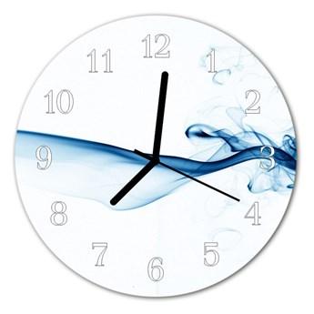 Zegar ścienny okrągły Abstrakcja dym