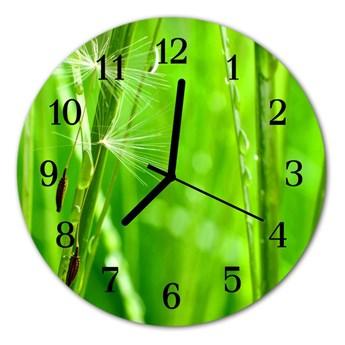 Zegar ścienny okrągły Trawa