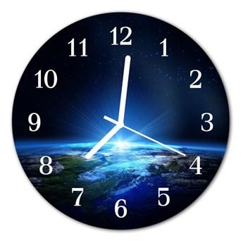 Zegar ścienny okrągły Kosmos ziemia