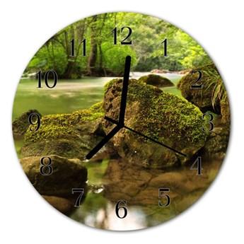 Zegar ścienny okrągły Rzeka