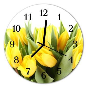 Zegar ścienny okrągły Tulipany
