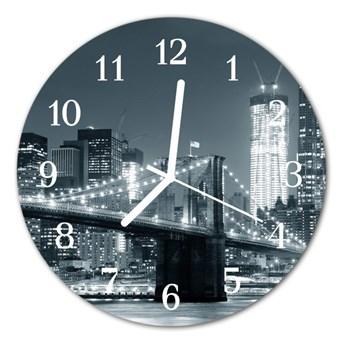 Zegar ścienny okrągły Most miasto