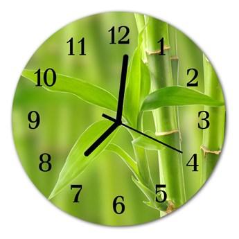 Zegar ścienny okrągły Bambus roślina