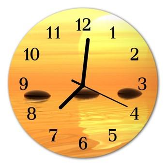 Zegar ścienny okrągły Słońce woda