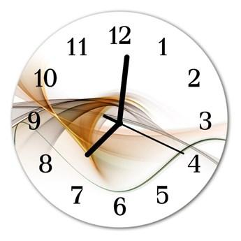 Zegar szklany okrągły Abstrakcja