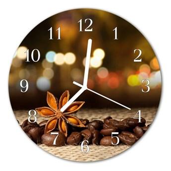 Zegar szklany okrągły Anyż