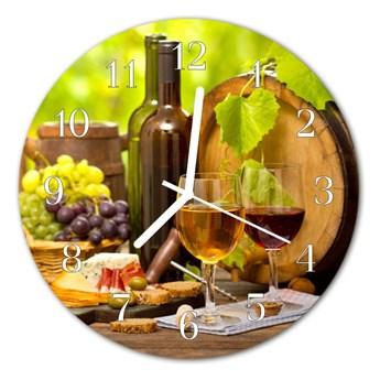 Zegar szklany okrągły Winogrona do wina