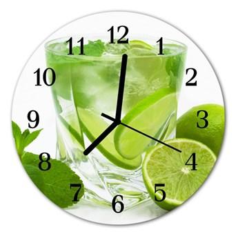 Zegar szklany okrągły Limonka