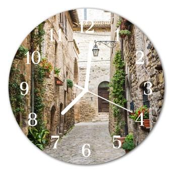 Zegar szklany okrągły Aleja