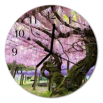 Zegar szklany okrągły Drzew
