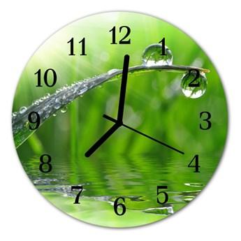 Zegar szklany okrągły Kropla rosy