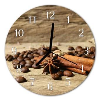 Zegar szklany okrągły Anyż Cynamon