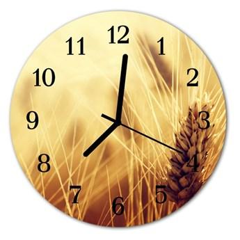 Zegar szklany okrągły Zboża