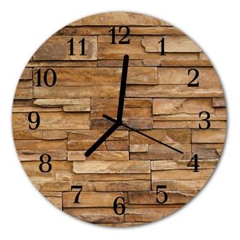 Zegar szklany okrągły Klinkier