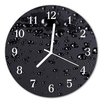 Zegar szklany okrągły Krople
