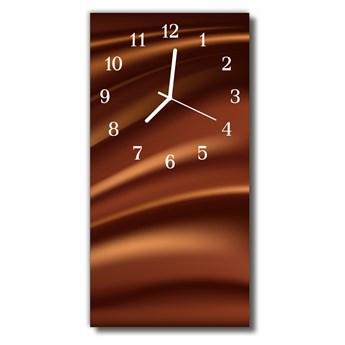 Zegar Szklany Pionowy Sztuka Grafika kształty brązowy