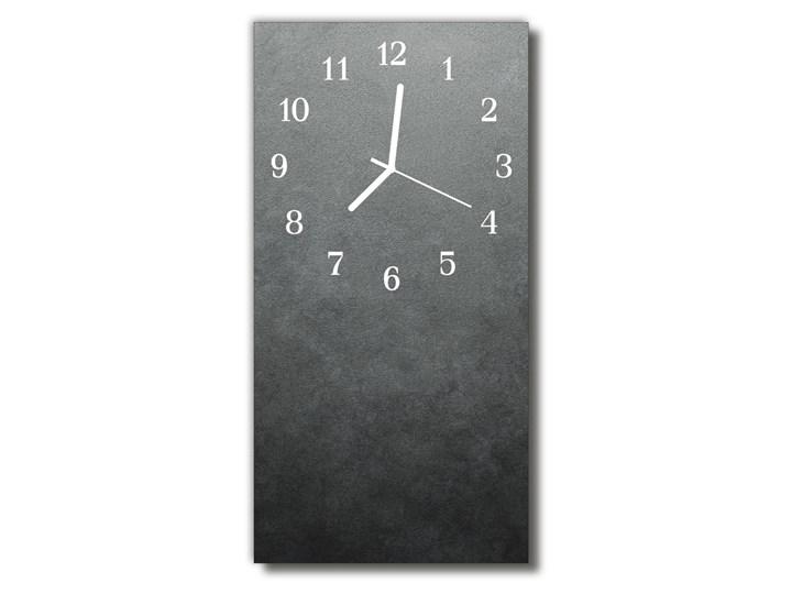 Zegar Szklany Pionowy Marmur ściana szary