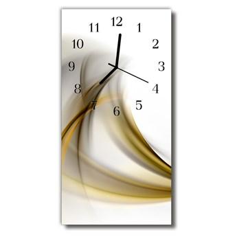 Zegar Szklany Pionowy Sztuka Abstrakcja linie beżowy