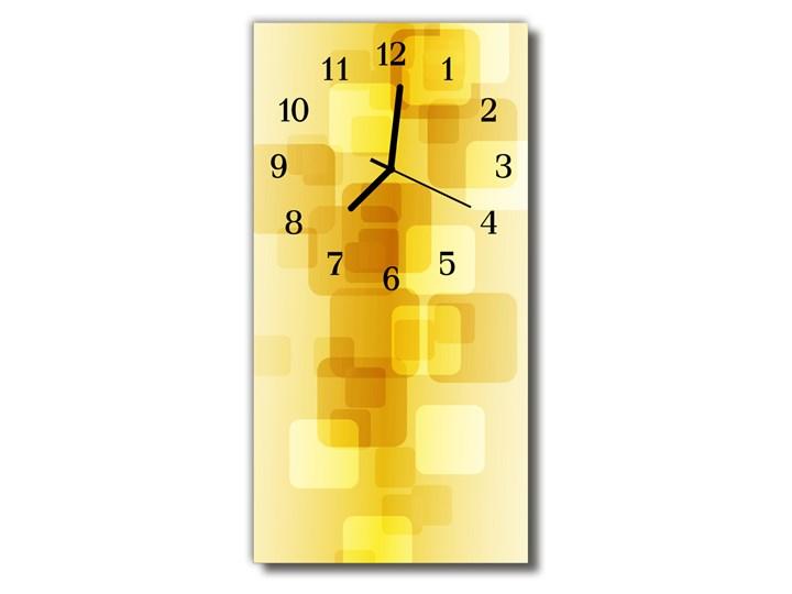Zegar Szklany Pionowy Sztuka Złote prostokąty żółty Zegar ścienny Prostokątny Styl Nowoczesny Szkło Kategoria Zegary
