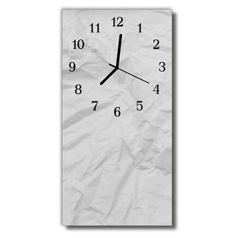 Zegar Szklany Pionowy Papier biały