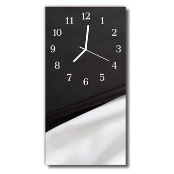 Zegar Szklany Pionowy Klasyczny Czarno-biały