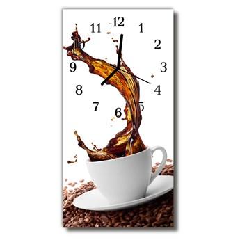 Zegar Szklany Pionowy Kuchnia Kawa filiżanka