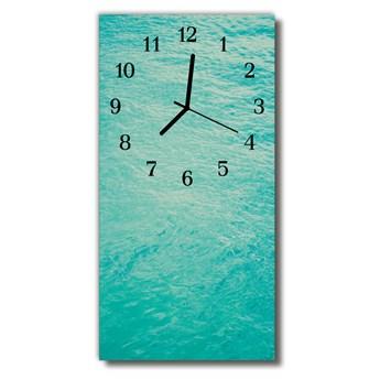 Zegar Szklany Pionowy Natura Woda morze niebieski