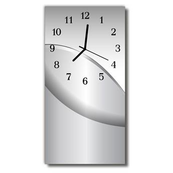 Zegar Szklany Pionowy Metalowy grafika szary