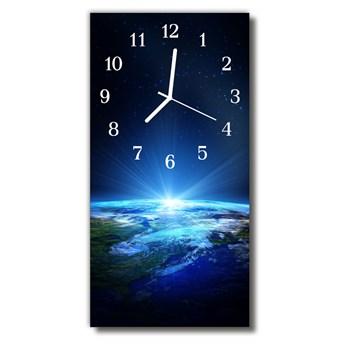 Zegar Szklany Pionowy Wszechświat Ziemia niebieski